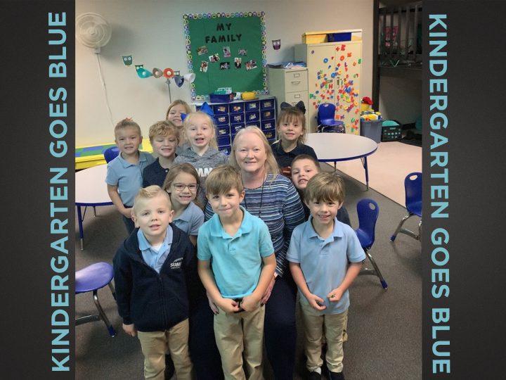 Kindergarten Goes Blue